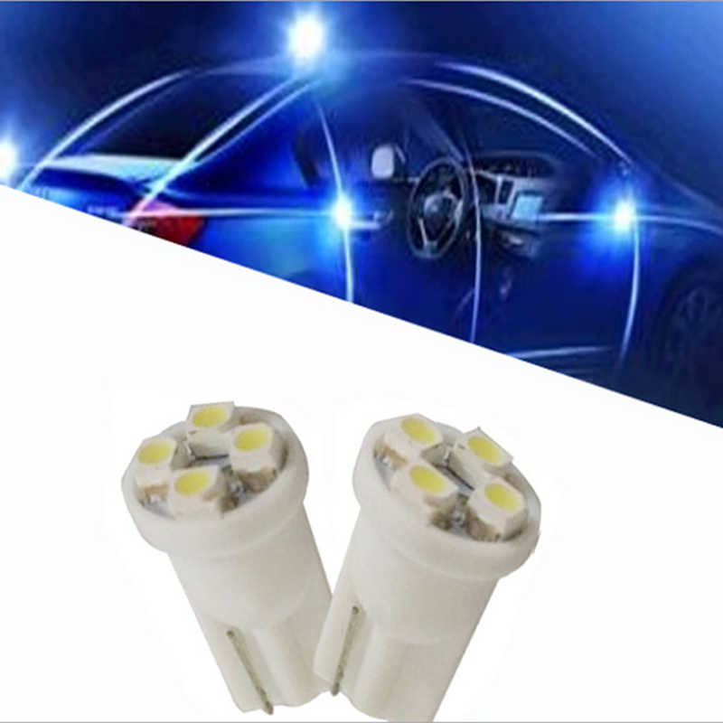 Ceramic Car Interior LED T10 COB W5W 168 Wedge Door Instrument Side Bulb Lamp Car Light Plate Light White/Blue/Green/Red/Yellow