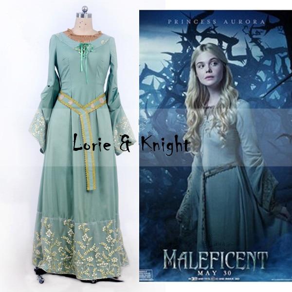 Custom Made Halloween Maleficent Cosplay Sleeping Beauty Adult Princess Aurora Costume Dress
