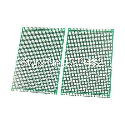 2Pcs Electronic DIY Double Sided Protoboard Printed Circuit Board 8cm x 12cm