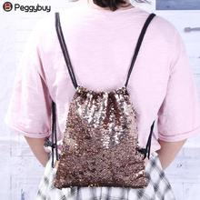 Girls Drawstring Glitter Backpacks
