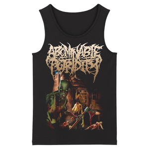 Image 3 - Bloodhoof abominable putridity Hard Metal Deathcore Rock Punk mens top black Tank Tops Asian Size
