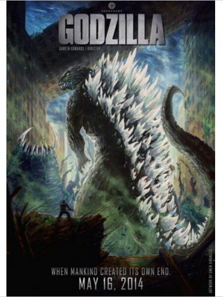 high quality huge monster 016 godzilla wall decals poster 20x30