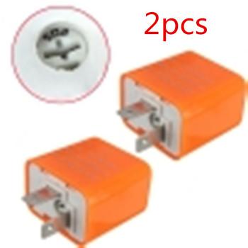 2 szt 12V 2 Pin uniwersalna elektroniczna regulowana częstotliwość kwadratowy LED migający przekaźnik motocyklowy sygnał zwrotny Hyper Flash tanie i dobre opinie Autoleader 2pin picture plastic Motocykl przełączniki