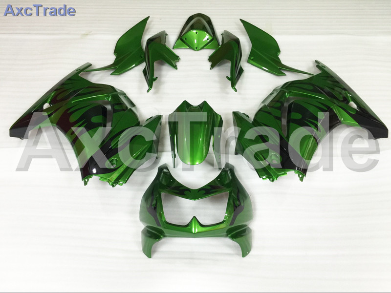 Motorcycle Fairings For Kawasaki Ninja 250 ZX250 EX250 2008-2012 08 - 12 ABS Plastic Injection Fairing Bodywork Kit Green A704 moto motorcycle fairing kit for kawasaki ninja zx10r zx 10r 2008 2009 2010 08 09 10 abs plastic fairings fairing kit white black