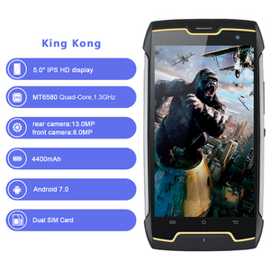 Image 2 - Cubot KingKong IP68 Waterproof Rugged Smartphone 4400mAh Big Battery 3G Dual SIM Android 7.0 2GB RAM 16GB ROM Compass+GPS MT6580