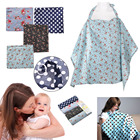 Cotton Breastfeeding Cover Nursing Covers Shawl Breast Feeding Covers Flower Printed Nursing Covers for Feeding Cotton Shawl