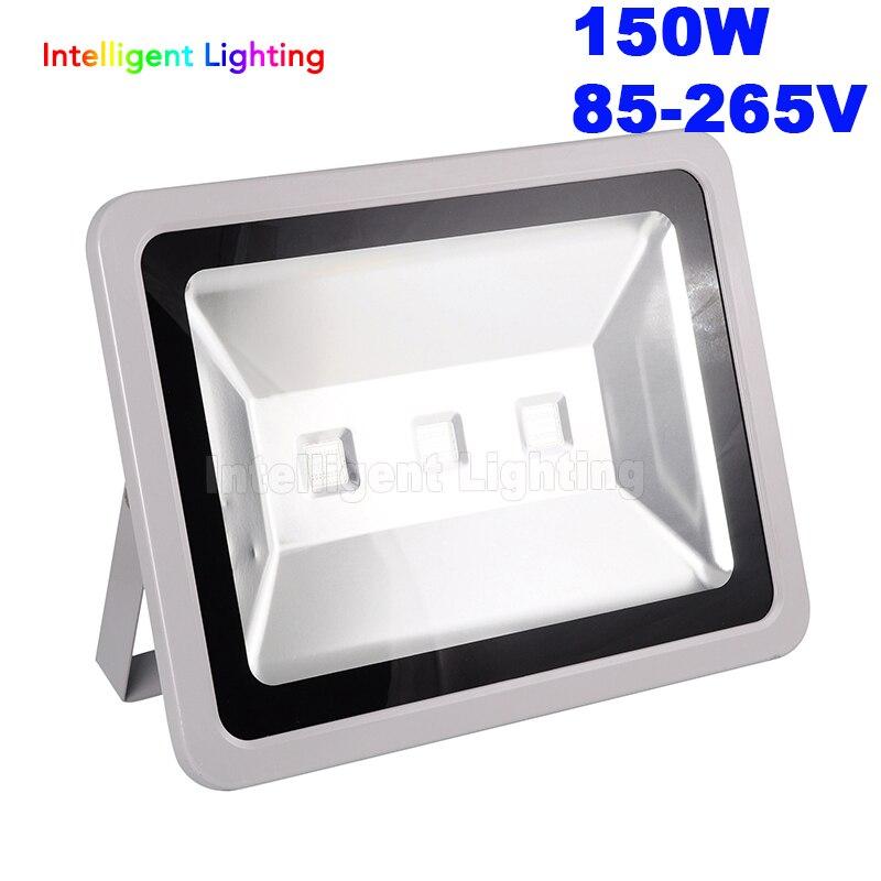 En gros étanche IP65 150 W Led lumière d'inondation 85-265 V lampe d'éclairage extérieur blanc/blanc chaud/RGB/rouge/bleu/vert pour l'herbe d'hôtel