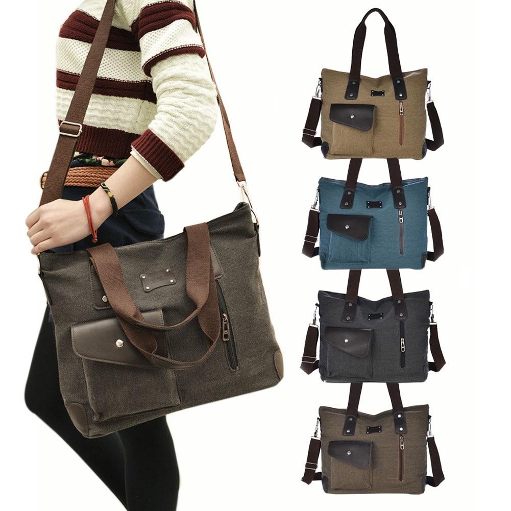 New Female Fashion Leisure Canvas Shoulder Bag Lady Portable Oblique Cross Bags  BS88