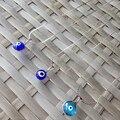 10 unids/lote Turco Mal de Ojo Azul Collar Crsytal Colgante Encanto Kabbalah Judía Joyería Mujer Moda Protector Griego Judío