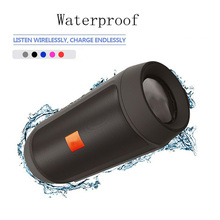 Portable Speaker 10W Waterproof Bluetooth Bass Soundbar Subwoofer with FM Radio Charger Mic for Computer Column