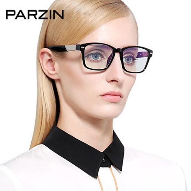 72f4ec1ae Parzin Llanura Gafas Vintage Marcos de Las Lentes Gafas Computadora Tr90  Grandes Del Marco gafas de
