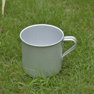 Image 5 - VILEAD 300ML 초경량 알루미늄 워터 컵 핸들 캠핑 하이킹 피크닉 배낭을위한 휴대용 야외 물병 머그잔