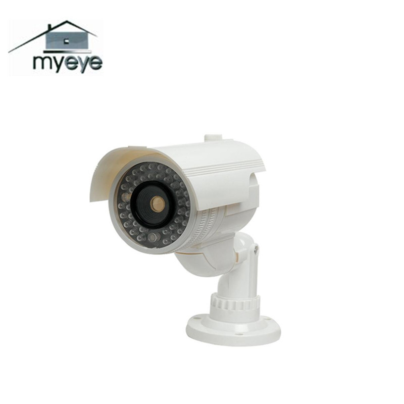 Myeye Waterproof Fake Dummy Camera Outdoor Indoor CCTV Surveillance With Flashing LED Light White Color stellar h 264 1080p sony sensor cctv camera metal waterproof 4pcs white light led hd camera indoor