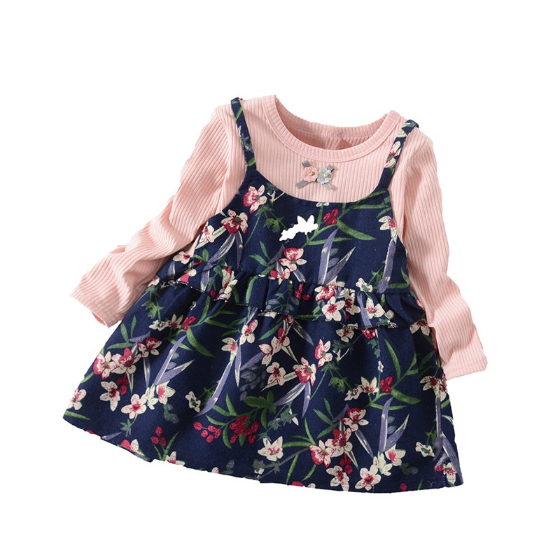 Telotuny baby   girl   clothes princess   dress   baby   girl     dresses   party and wedding Long Sleeve   flower     girl     dresses   Dec18