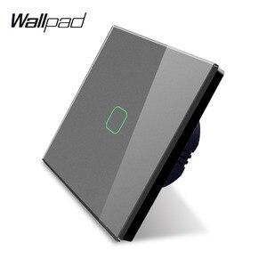 Image 3 - Wallpad K3 Capacitieve 1 Gang 2 Way Intermediate Touch Op Off 4 Kleuren Glas Panel Muur Elektrische Lichtschakelaar Voor uk Eu