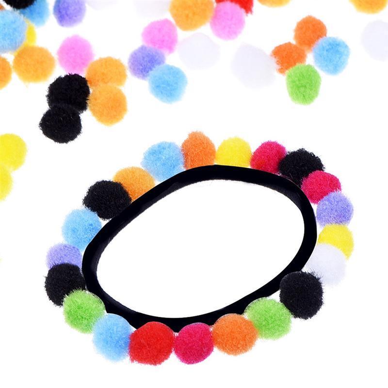 2000 piezas 10mm felpa colorido Pom Bola de coser en la ropa ...