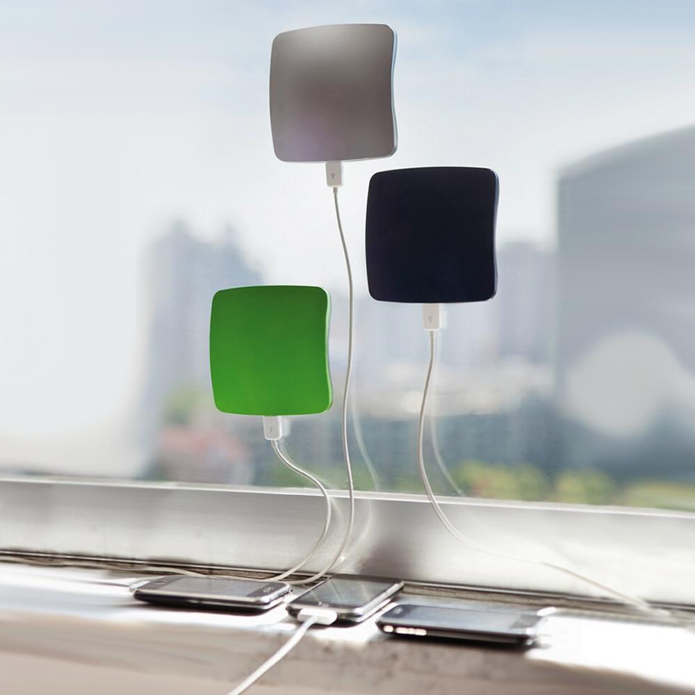 imágenes para Alta calidad cargador de teléfono móvil solar portable 5200 mah Cuadrado Ventosas Estilo Banco de la Energía Solar Cargador Solar USB Estándar
