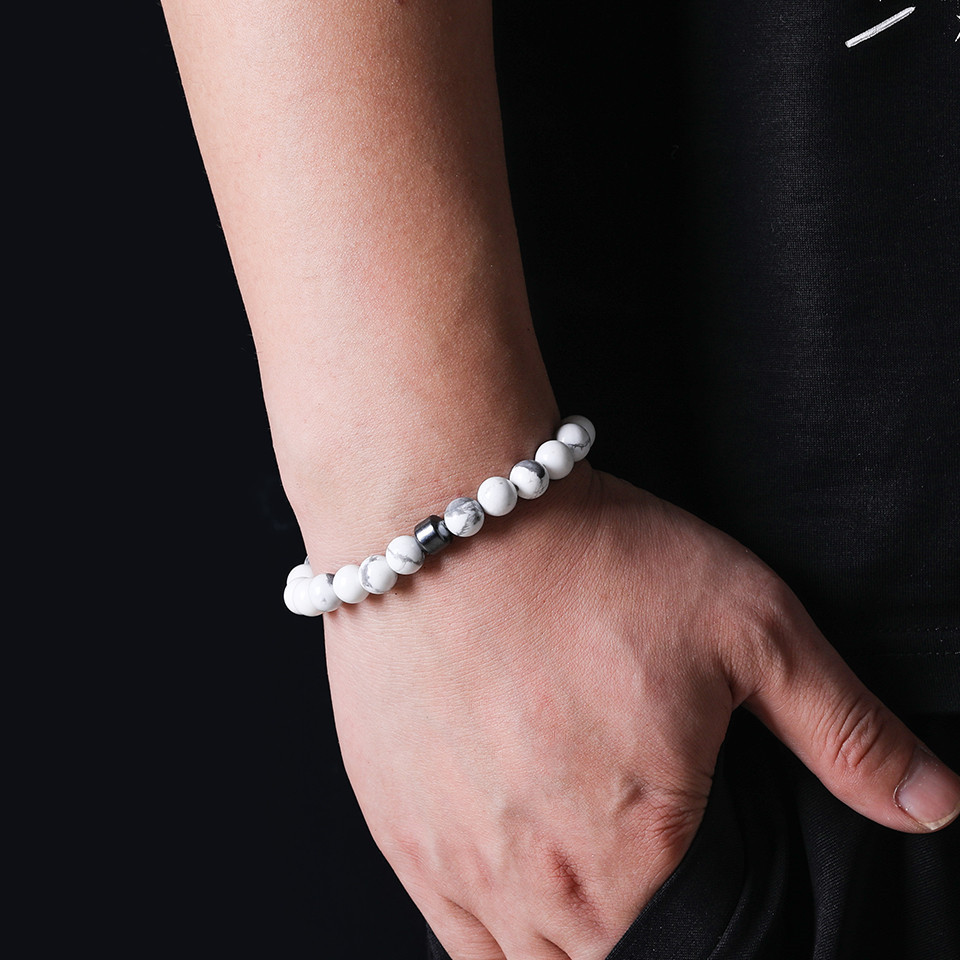 2019 Cylinder Beaded Bracelet For Men Classic Nature Tiger Eyes Stone Beads Charm Bracelets&Bangles Homme Male Yoga Jewelry Gift (10)