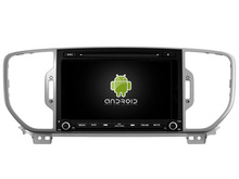 Android 8.0 octa core 4GB RAM car dvd player for KIA SPORTAGE 2016 ips touch screen head units tape recorder radio with gps