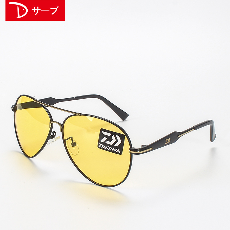Image 4 - Outdoor fishing polarized glasses 2018 New DAIWA to see increased clarity drift dedicated high definition night vision sunglasse-in Fishing Eyewear from Sports & Entertainment
