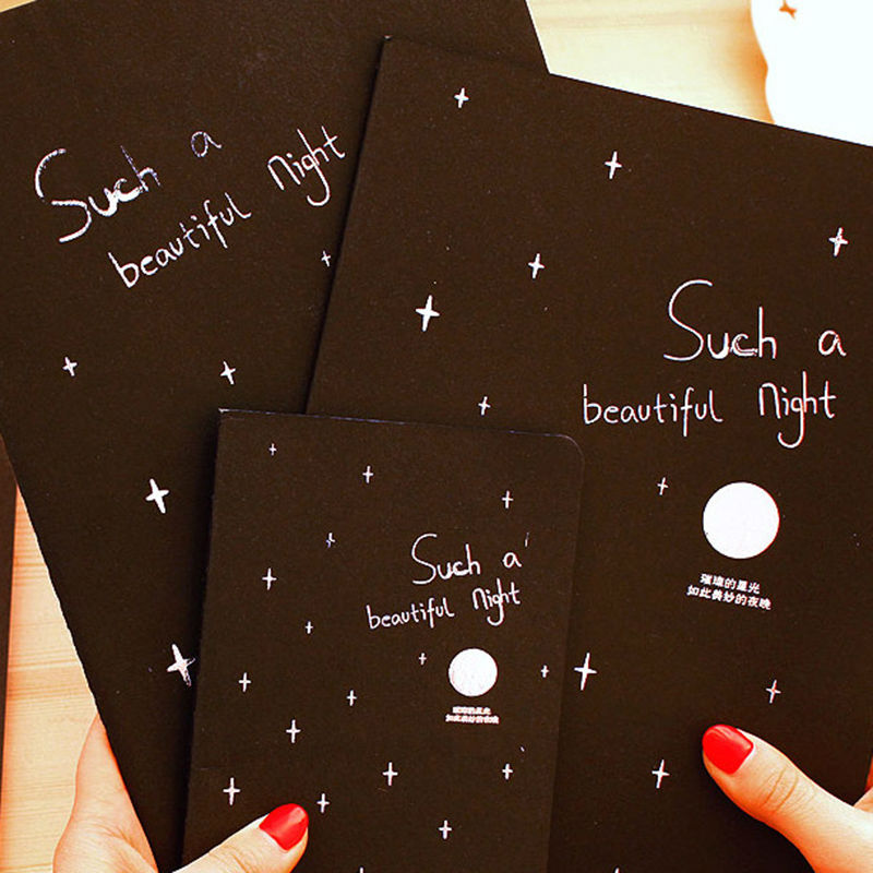 2017 New A5 Black Paper Sketchbook Diary Paiting Drawing Graffiti Sketch Book Space Notebook School Student Stationery