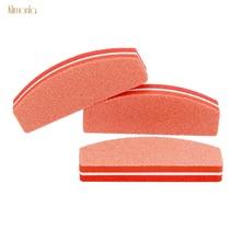 купить 10pcs Orange Nail Buffers File For UV Gel Mini Nail File Buffing Blocks Polishing Strips Manicure Pedicure Sanding Nail Art Tool дешево