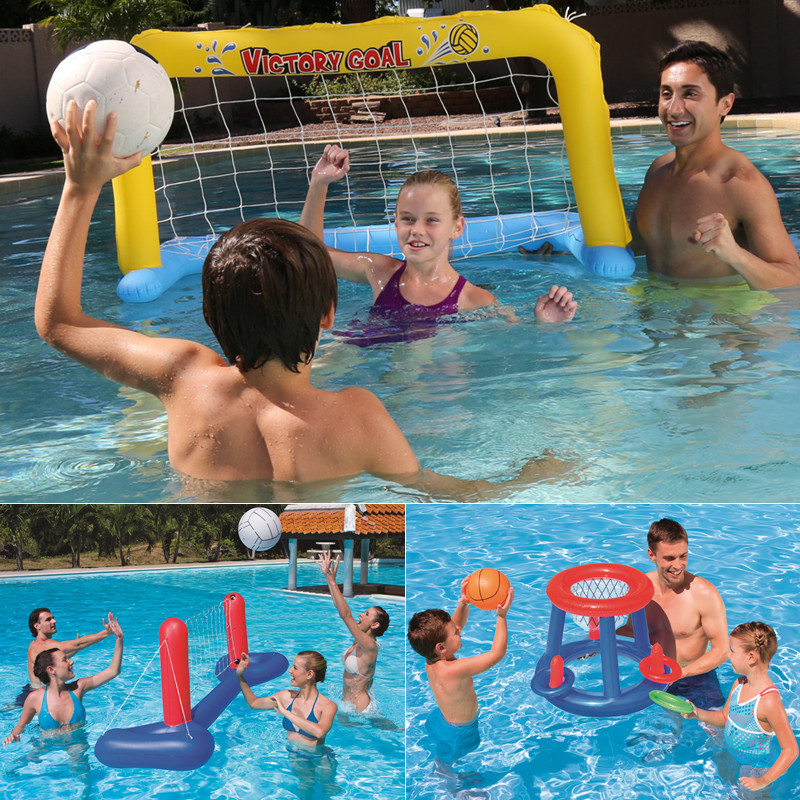 Beach Toys  Parent-Child Swimming Pool Water Playing Inflatable Volleyball Basketball Frame Handball Gate Water Sp