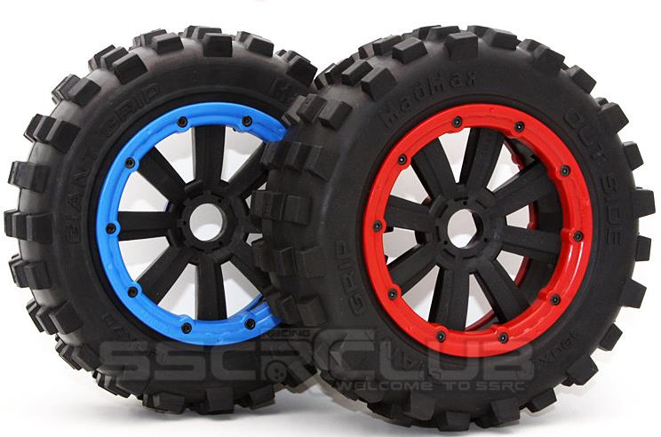 (1:5) TRAXXAS X-MAXX Wheels Tire RC Monster truck Model MADMAX High quality tyres upgrade Rim 4pcs