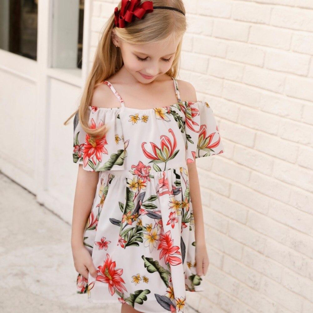 estilo verao vestido de alca da menina 01