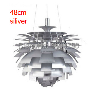 Modern Louis Poulsen PH Artichoke Pendant Lamps Denmark Designer Pendant Lamp Light Fixtures Aluminium Bedroom Lighting 50cm aluminium luz pendente modern lamp designs ph artichoke pendant lights for home white luminaria 110v 220v