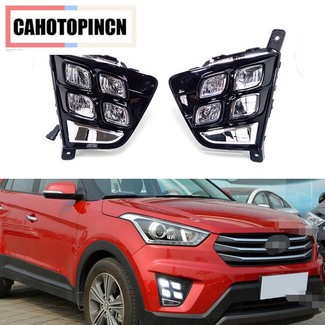 Car Accessories Waterproof ABS 12V LED Daytime Running Light DRL Fog ...