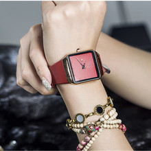 GUOU Minimalism Fashion Casual Watch Women Watches Simple Square Dial Women's Auto Date Silicone Ladies Clock saat gifts