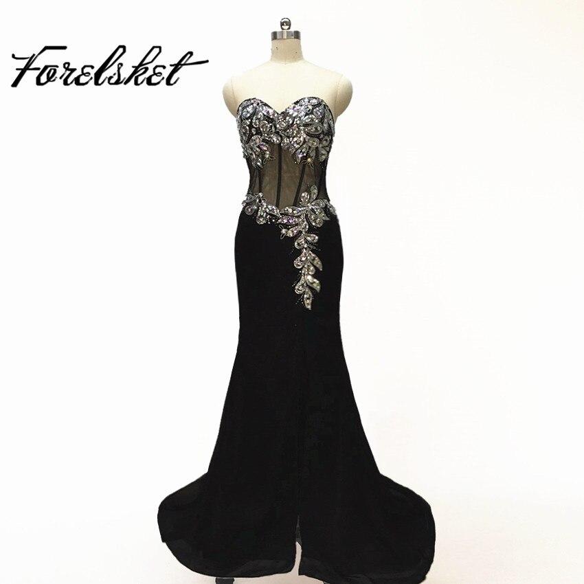 Generous Sweetheart Beaded Prom Dresses 2019 Lange formele - Jurken voor bijzondere gelegenheden - Foto 2
