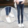 2016 зима материнства беременность джинсы уход брюки для беременных эластичный пояс джинсы беременна беременности спецодежда