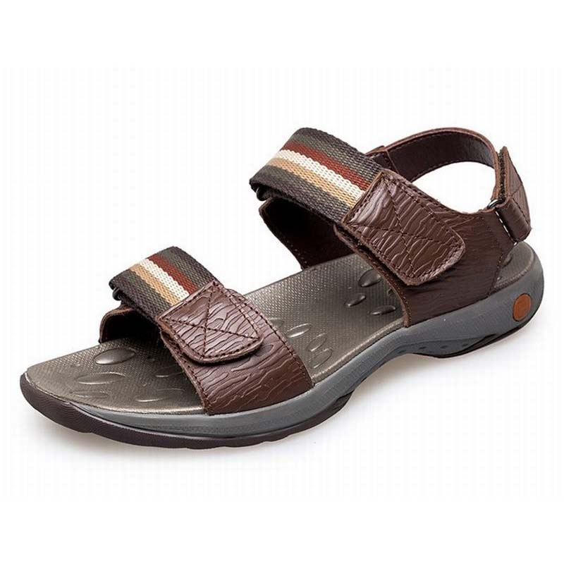 Men sandals summer new sandals non slip breathable slippers comfortable fashion men beach shoes high quality genuine leather