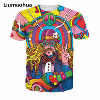 Liumaohua 2019 New Hippie Musician T-Shirt 3d colorful a groovy hippie unisex t shirt summer fashion t-shirt tops