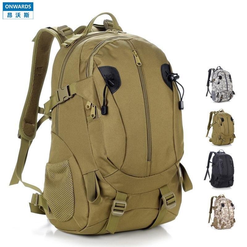 ONWARDS Waterproof Military Brown Backpack Bag 40L Men's Outdoor ...