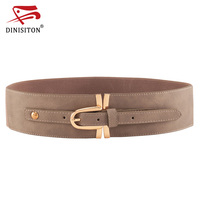 DINISITON Elastic Waistband Wide Belt For Women Wide Waist Belt Sweet Fashion Female Belt Cummerbunds Female