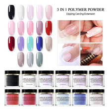 BORN PRETTY 10ml 3 In 1 Polymer Powder Acrylic Dipping DIY Design Carving Extension Manicure Tool
