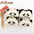 Infantil Crianças Roupas Grossas de Inverno Quente Panda Pullover Carta Camisola padrão 4 Cores Tops Terno 1-5 Idade Meninos Bonitos Do Bebê meninas