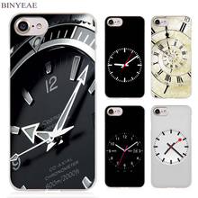 BINYEAE Funny Clock Clear Cell Phone Case Cover for Apple iPhone 4 4s 5 5s SE 5c 6 6s 7 7s Plus