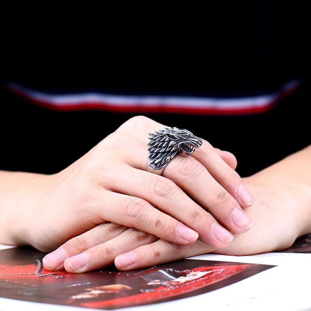 House Stark stainless ring