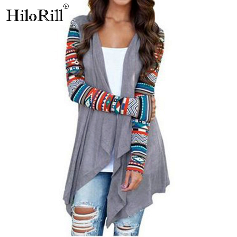 Women Cardigan Autumn Floral Print Long Sleeve Irregular Wrap Kimono Cardigans Casual Coverup Coat Tops Outwear Plus Size S-3XL como vestir con sueter mujer