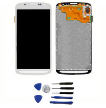 LCD Display + touch screen with digitizer glass Full Assembly For Samsung Galaxy S4 Active i9295 i537 lcd and Tools , White for samsung galaxy mega 6 3 i9200 i9205 i527 lcd display touch glass digitizer assembly