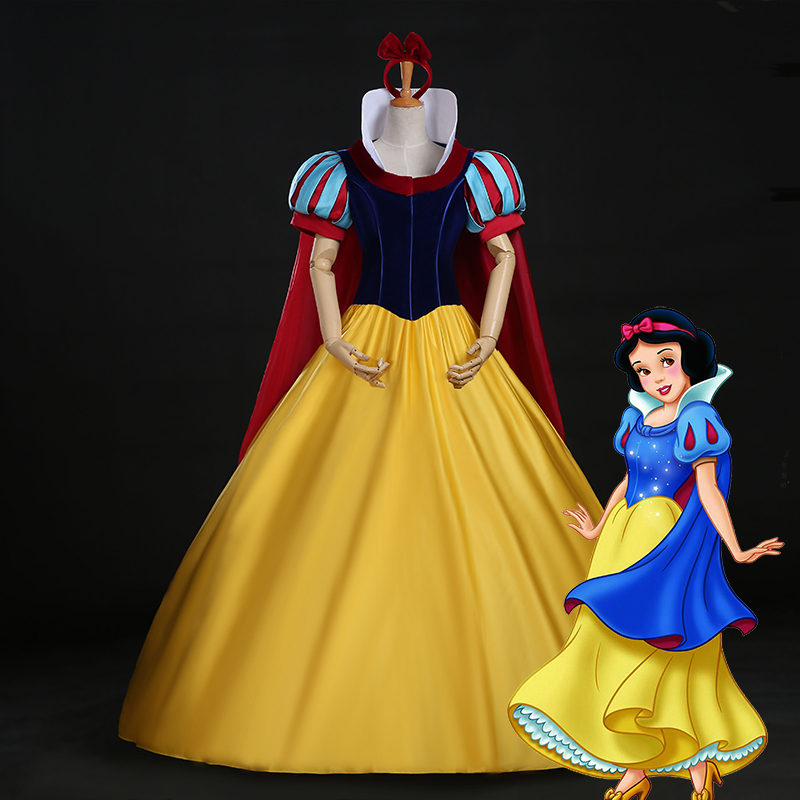 So Deluxed  Women Snow White Princess Dress Snow White Cosplay Fancy  Stage Costume S-XL accept custom-order