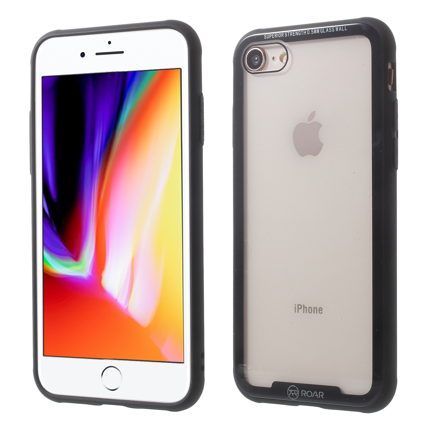 ROAR KOREA For iphone X 7 8 Cover Coque Tempered Glass + Drop-proof TPU Hybrid Back Case for iPhone 8/7 4.7 INCH Phone Cases