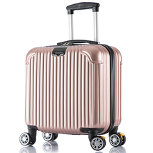 Commercial 16 trolley luggage lock journey box commercial small abs luggage high quality abs hard case