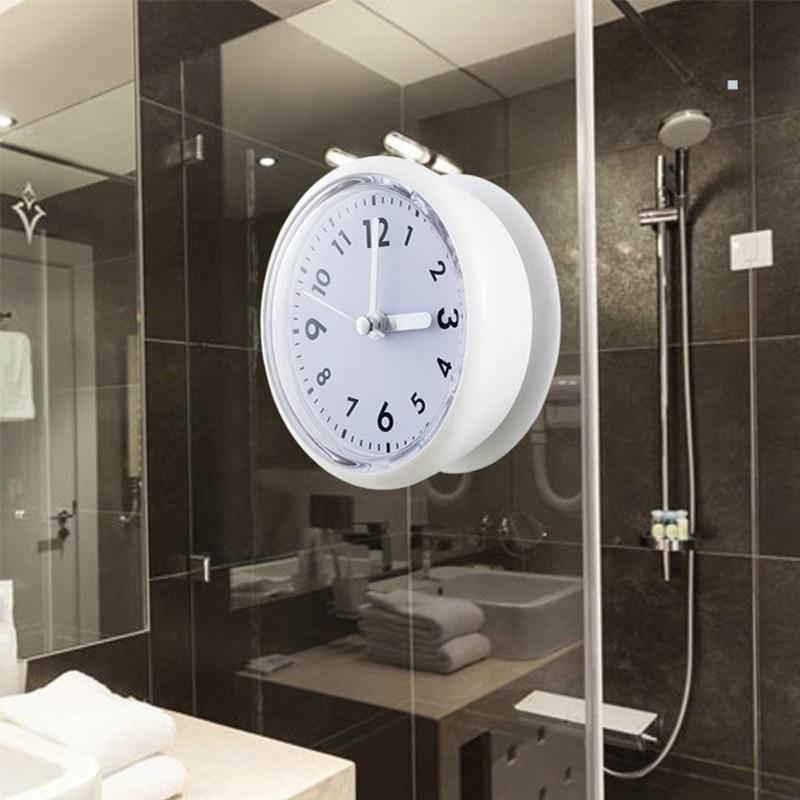 65b6b04f2a7 great siliconen badkamer keuken douche zuig klok waterdicht analoge silent  badkamer sweep klok zuig with badkamer klok waterdicht