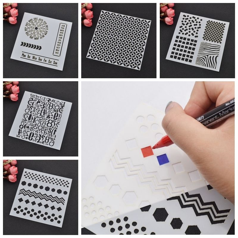 interesting layering stencils various shape template craft diy scrapbooking paper card mold