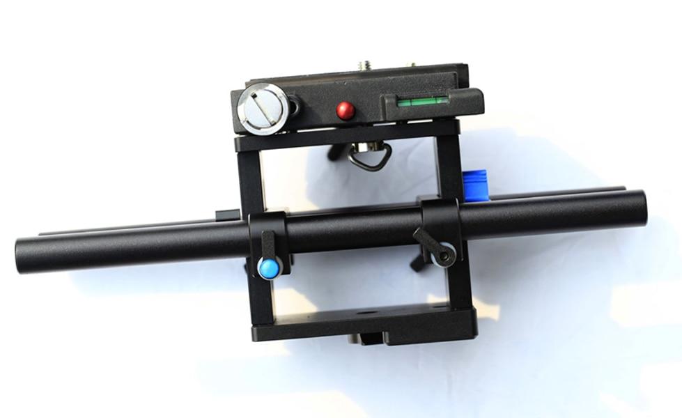 F07071 Enhanced Rail Rod Support System Baseplate Mount for DSLR Camera Follow Focus Rig 5D2 tilta ug t03 universal dslr rigs front handgrip for 15mm 19mm rod rail system shoulder mount rig